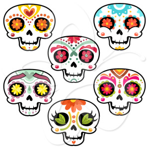 300x300 Day Of The Dead Skull Clipart Free