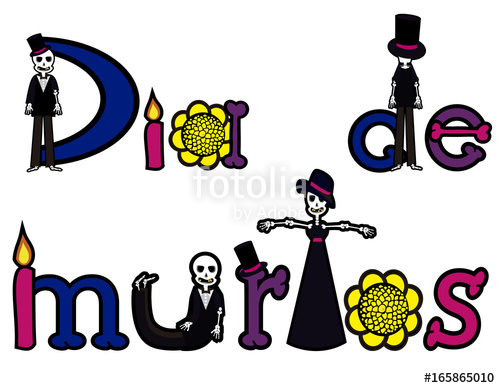500x388 Day Of The Dead Letters 2 Stock Image And Royalty Free Vector
