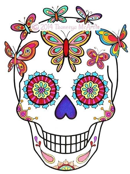449x600 Day Of The Dead Coloring Skulls Day Of The Dead Skull Coloring