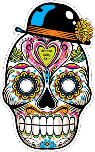 387x619 Day Of The Dead Masks To Print, Clip, Wear, Tweet