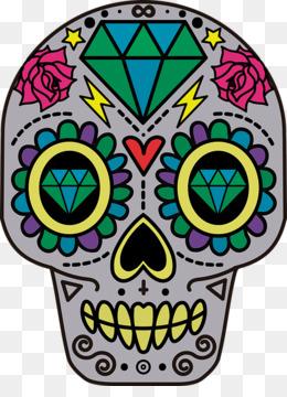 260x360 Calavera Skull Day Of The Dead Clip Art