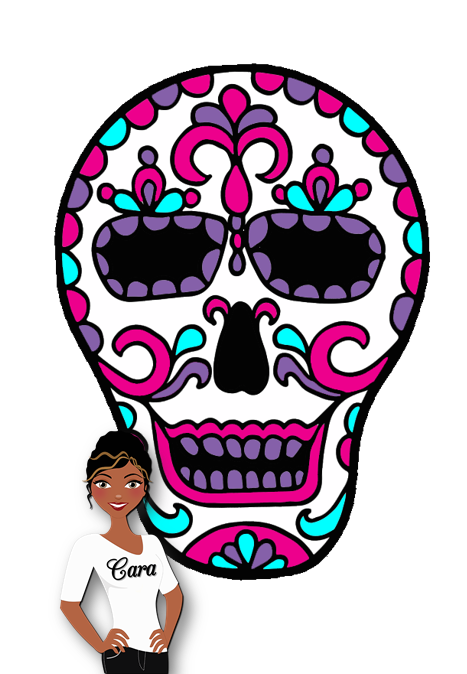 467x674 Creative Playground Day Of The Dead, Polka Dot Papers And A Freebie!