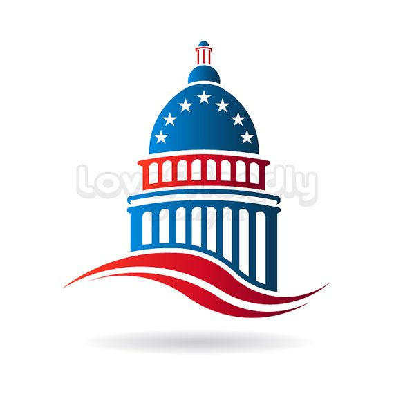 570x570 Capitol Building Patriotic Logo Clip Art. America Center