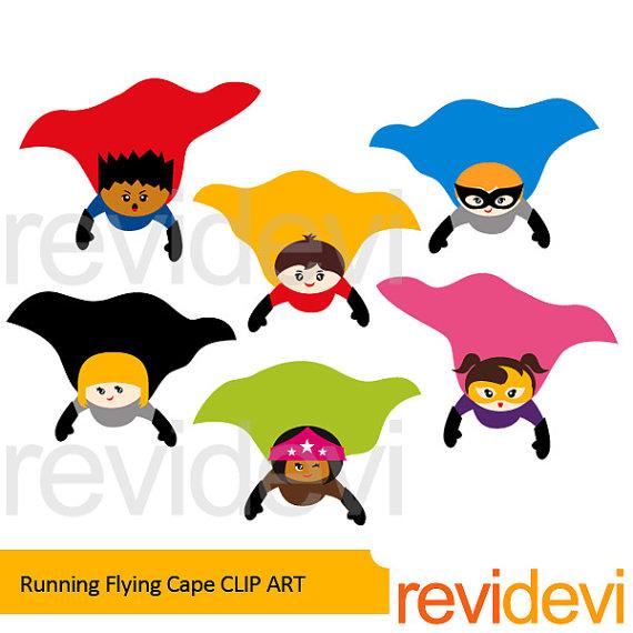 570x570 Superhero Clipart Bundle Sale Flying Superhero Clip Art