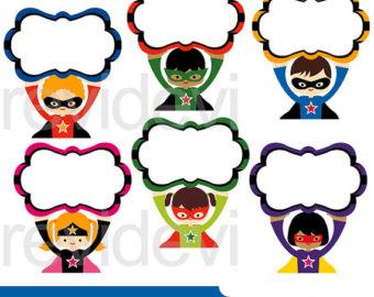 340x270 Superhero Clipart Sale Superhero Vs Villain Clip Art Bundle