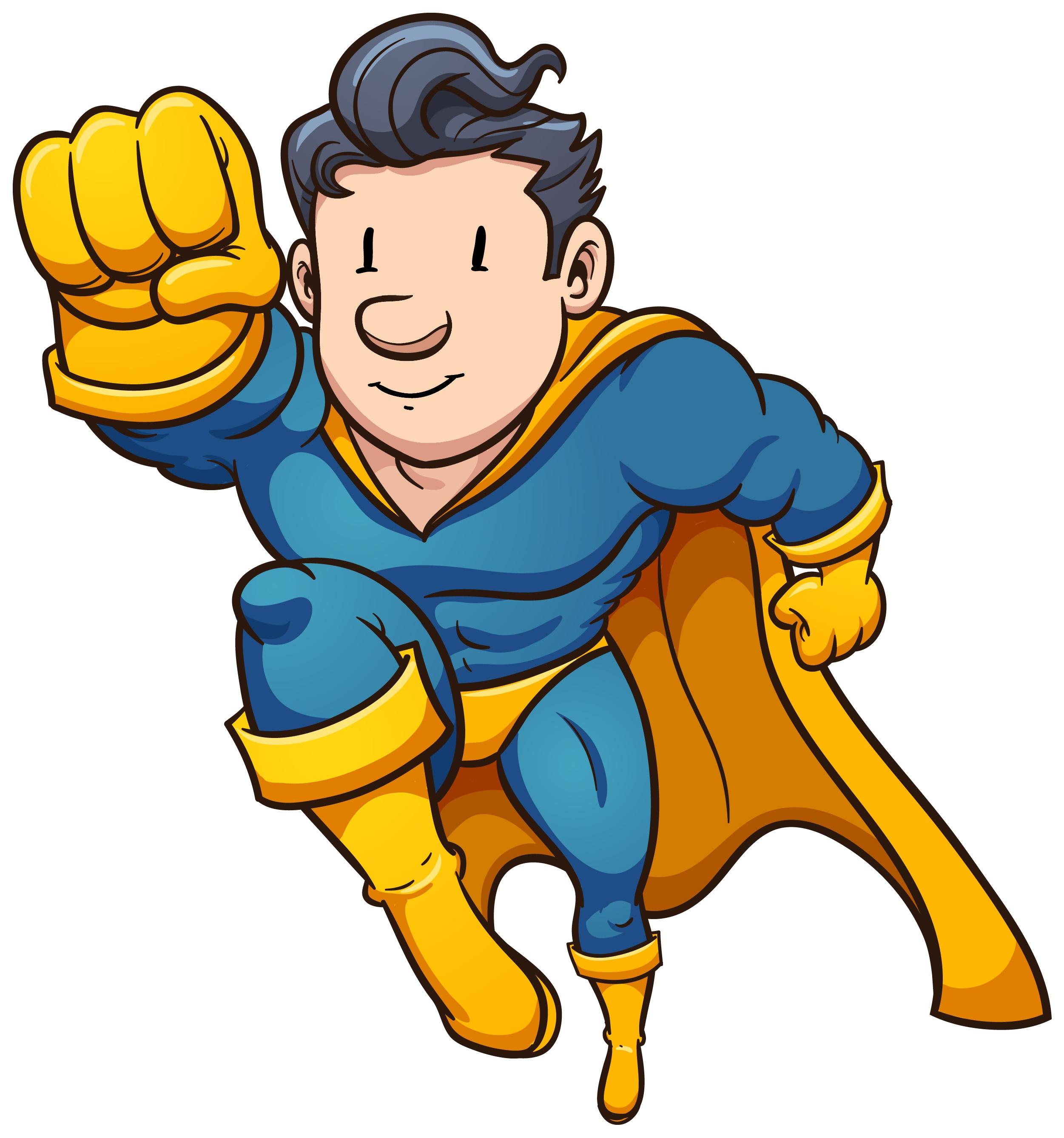 2502x2677 Superhero Clip Art