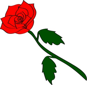 300x294 Clip Art Roses With Thorns And Dead Vines Free 2