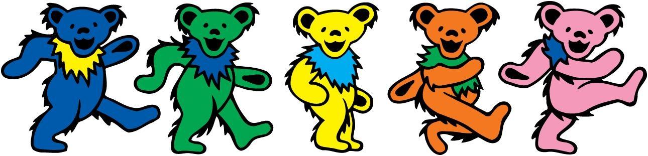 1290x311 Dancing Bears Grateful Dead Clip Art Clipart