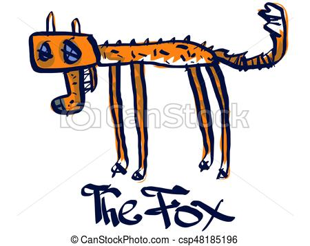 450x357 A Dead Fox. Vector Illustration Eps Vectors