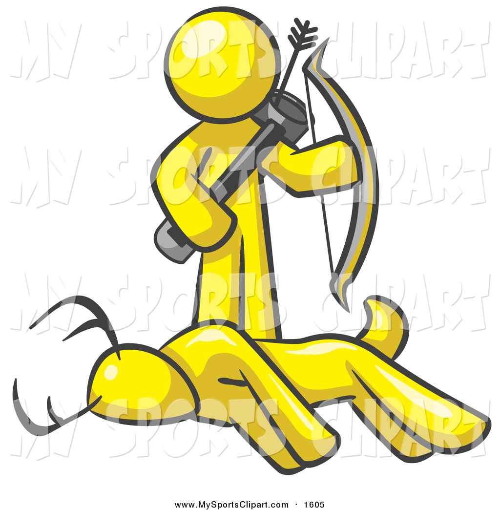 1024x1044 Sports Cliprt Of Yellow Hunter, Holding Bowndrrow Over