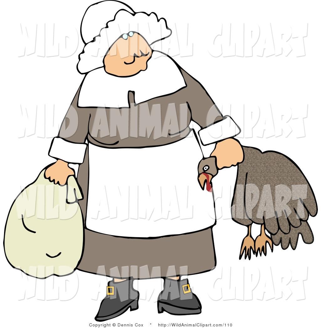 1024x1044 Clip Art Of An Elderly Pilgrim Woman Carrying A Dead Turkey By Its