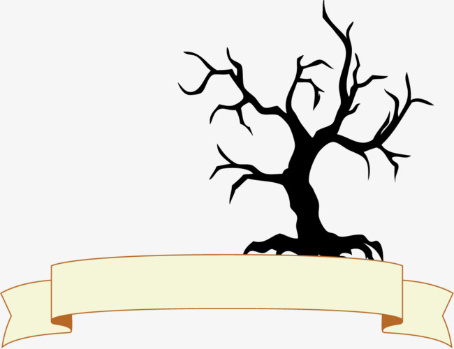 650x500 Dead Tree Border Png, Cartoon Border, Ribbon Border, Dead Tree