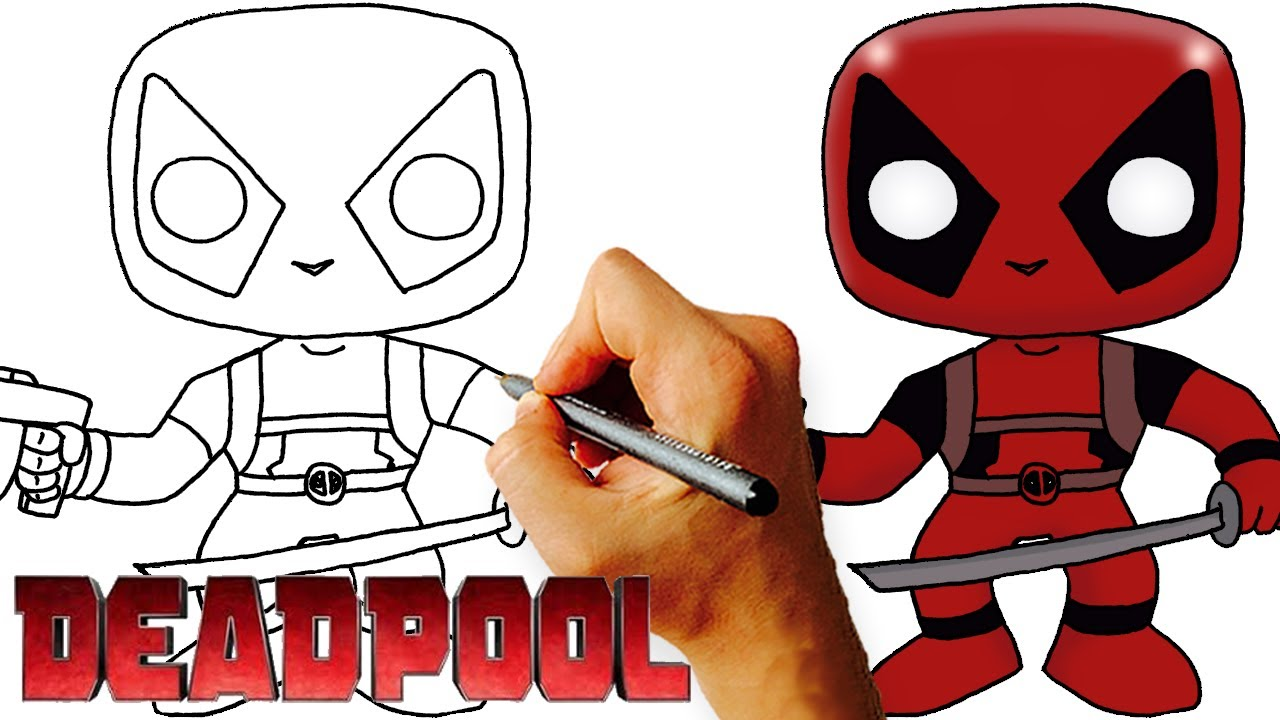 1280x720 Pk How To Draw Chibi Deadpool Step By Step Art Lesson