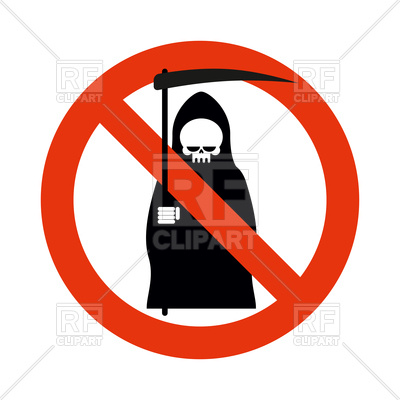 400x400 Stop Death Sign Royalty Free Vector Clip Art Image