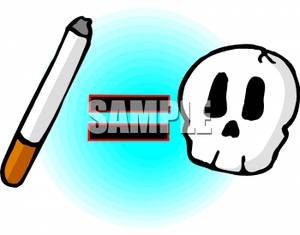 300x235 Clipart Picture Cigarettes Equal Death