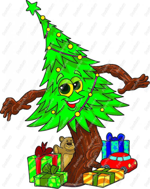 633x800 Dancing Christmas Tree Clip Art Clipart