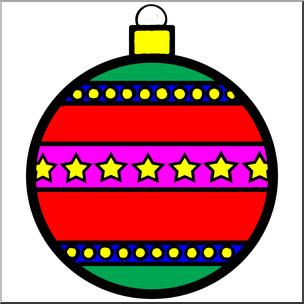304x304 Clip Art Ornament 1 Color