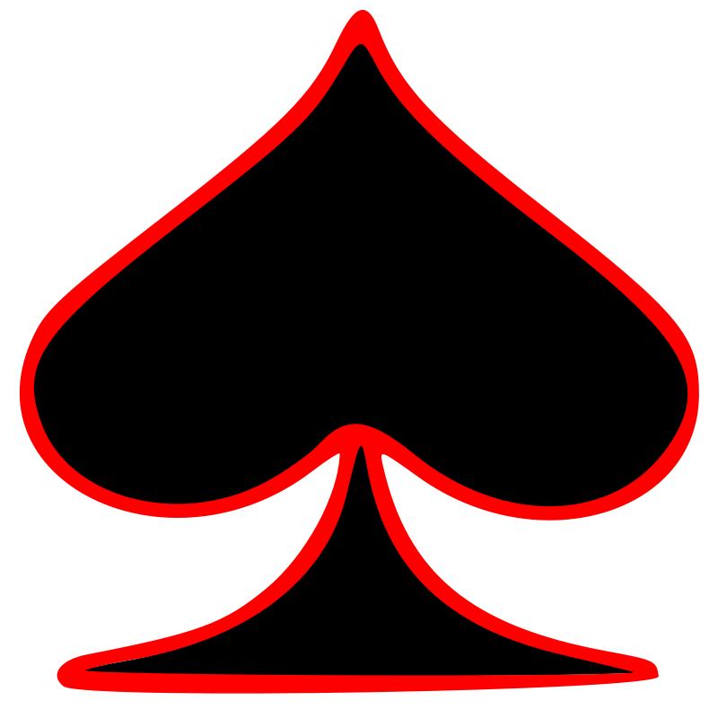 800x800 Free Clipart Outlined Spade Playing Card Symbol Gr8dan