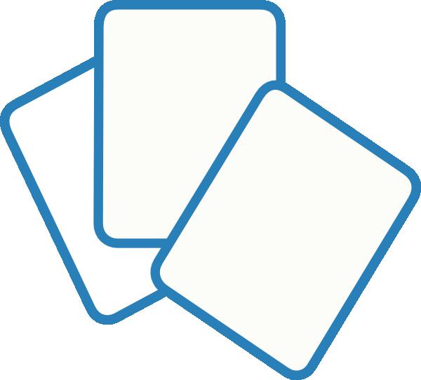 600x542 Card Deck Blue Clip Art