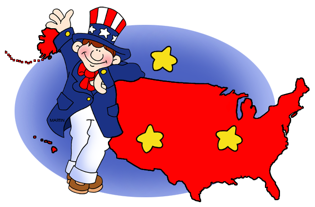 648x425 Fourth Of July Clip Art By Phillip Martin, Uncle Sam And Map