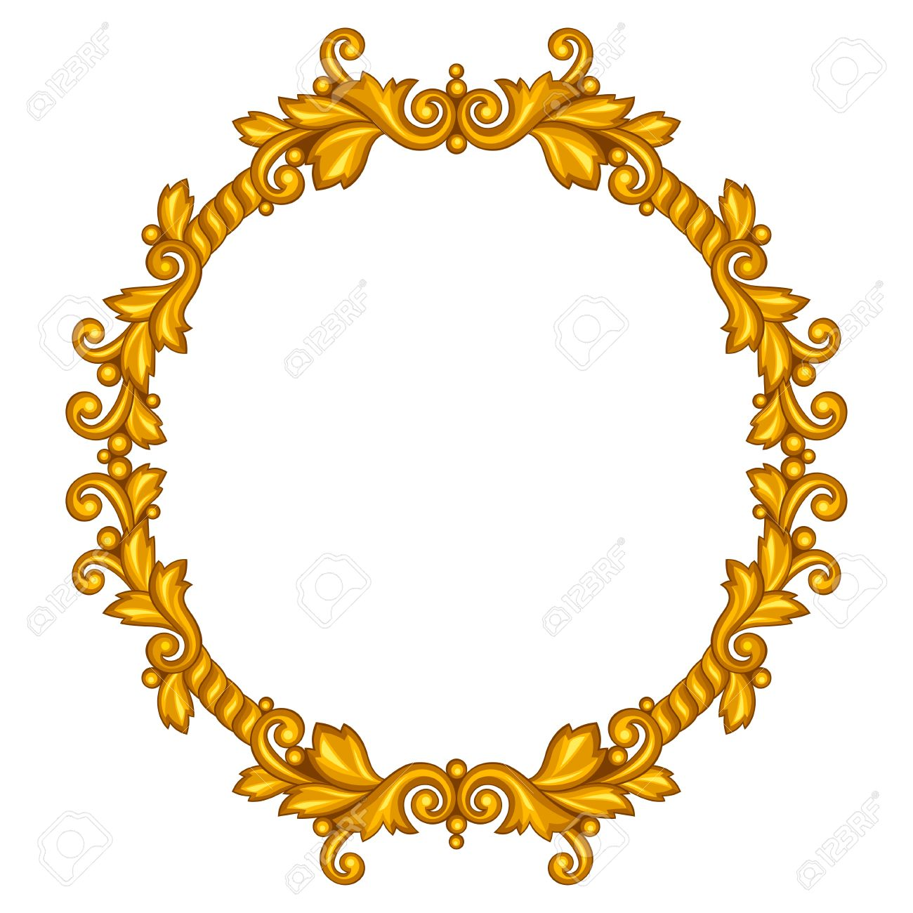 1300x1300 Decorative Line Gold Clipart Baroque