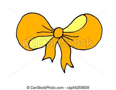 450x349 Hand Drawn Doodle Cartoon Decorative Ribbon Bow Vector Vectors