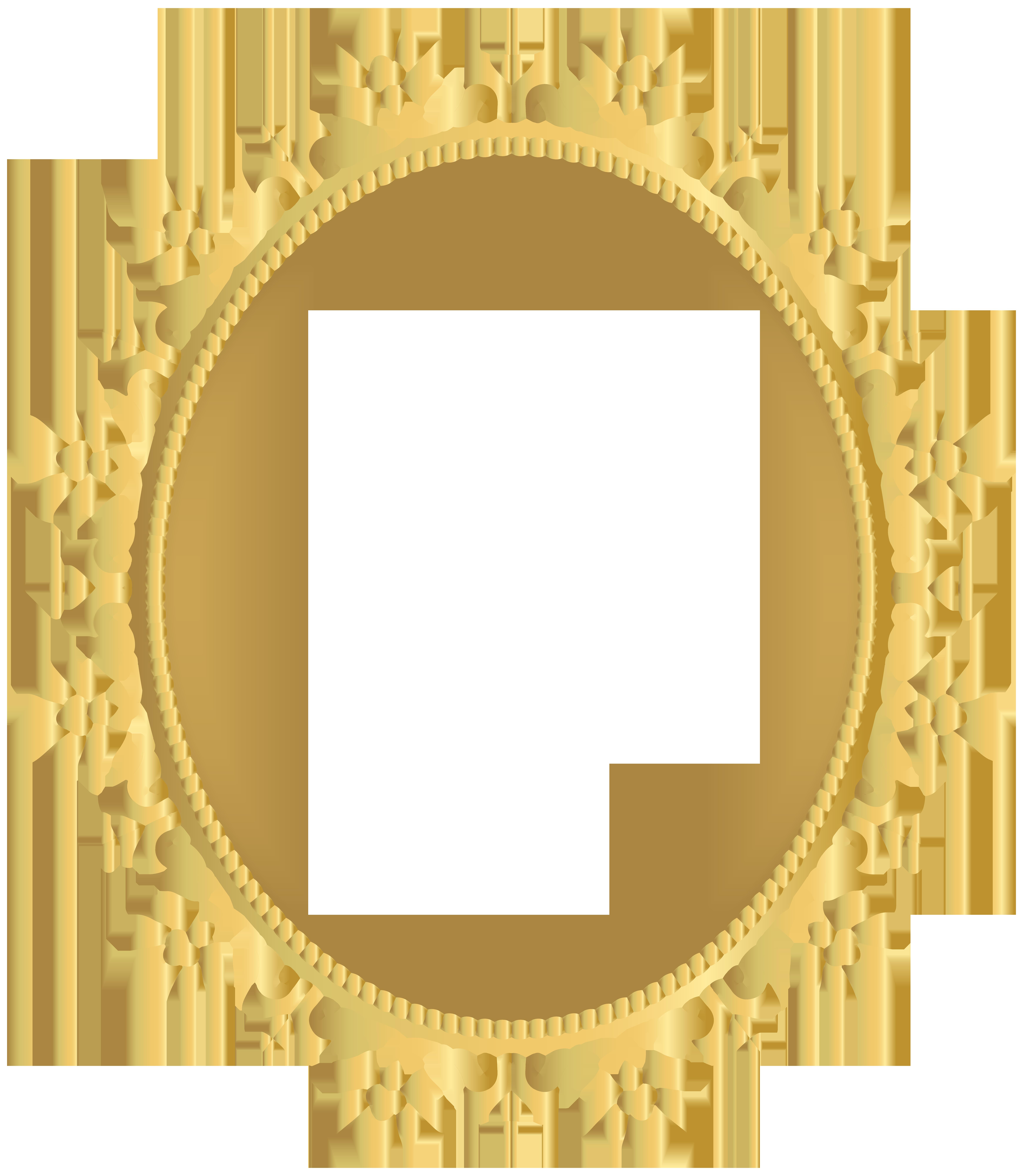 6957x8000 Oval Decorative Border Frame Transparent Clip Art Png Image