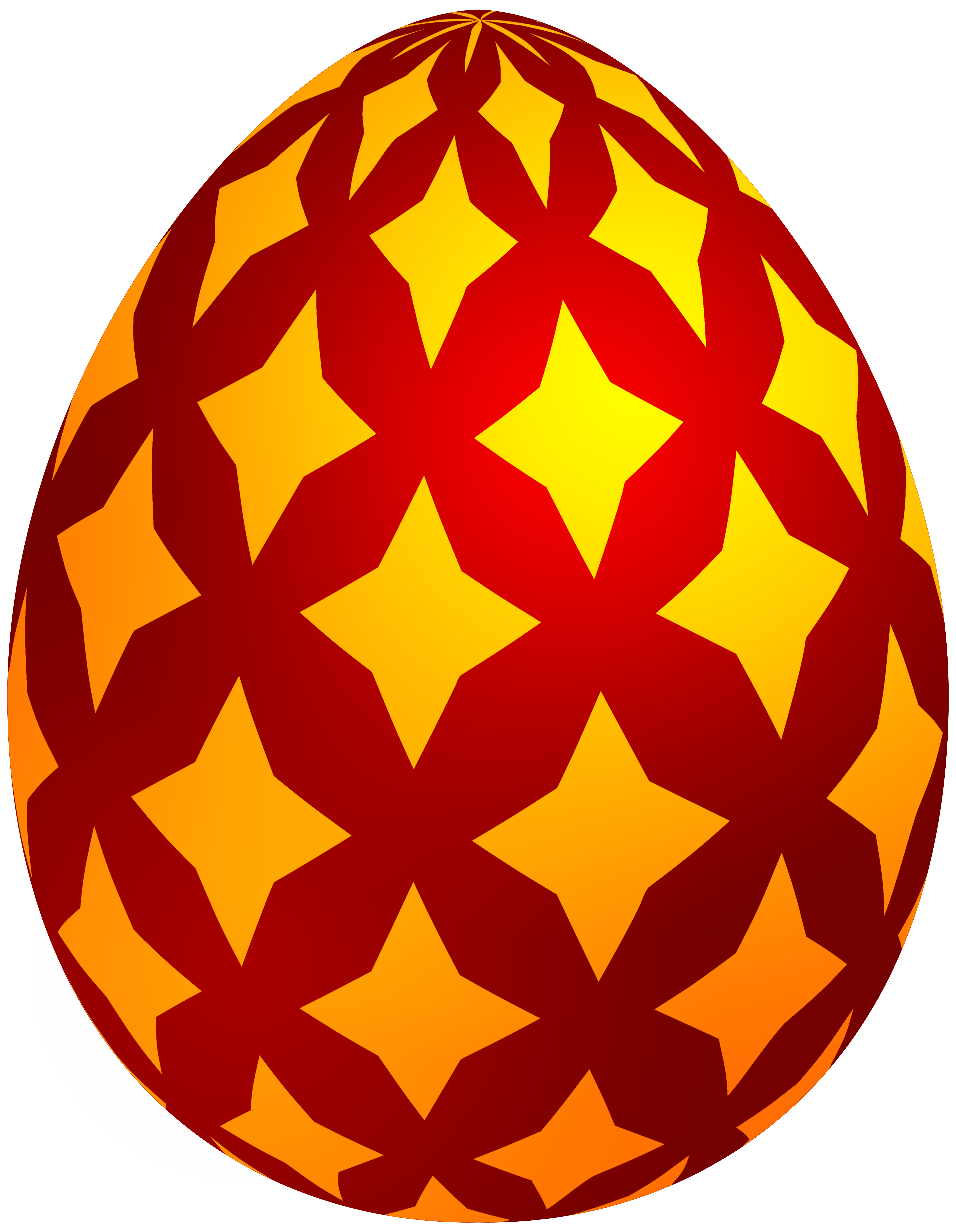 3879x5000 Red Easter Decorative Egg Png Clip Art