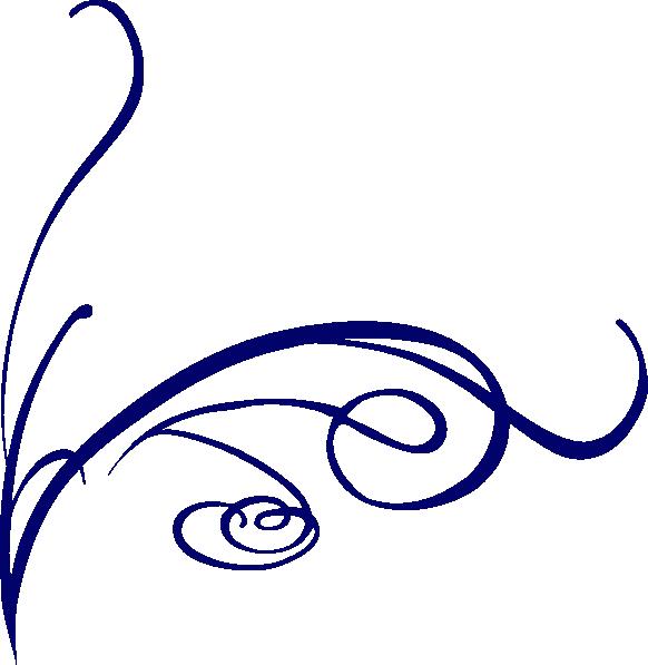 582x597 Fancy Lines Clipart Decorative Line Blue Png Transparent Images