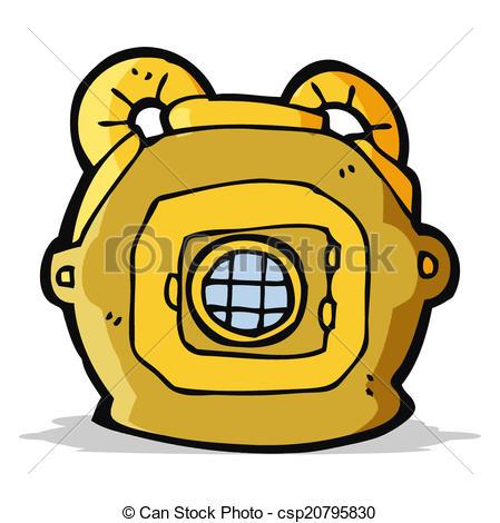 449x470 Cartoon Old Deep Sea Diver Helmet. Cartoon Deep Sea Diver Helmet.