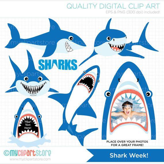 570x570 Shark Clipart, Under The Sea, Party, Diving, Ocean Life, Deep Sea