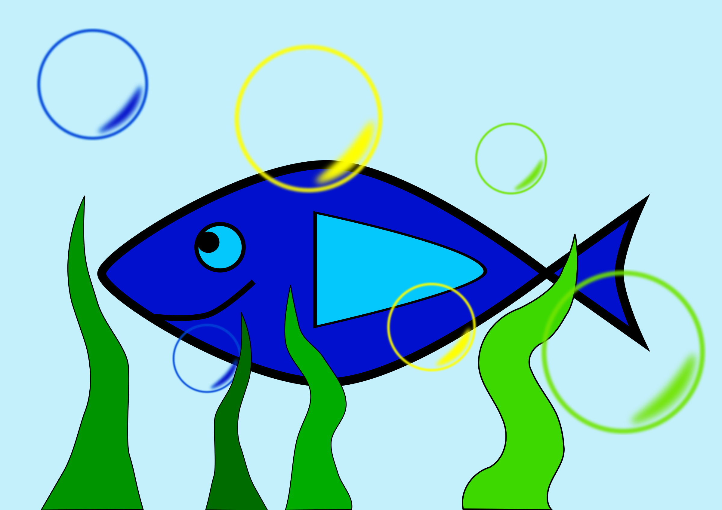 2400x1697 Simple Fish 2 In The Sea Icons Png