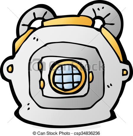 450x462 Cartoon Old Deep Sea Diver Helmet. Cartoon Deep Sea Diver