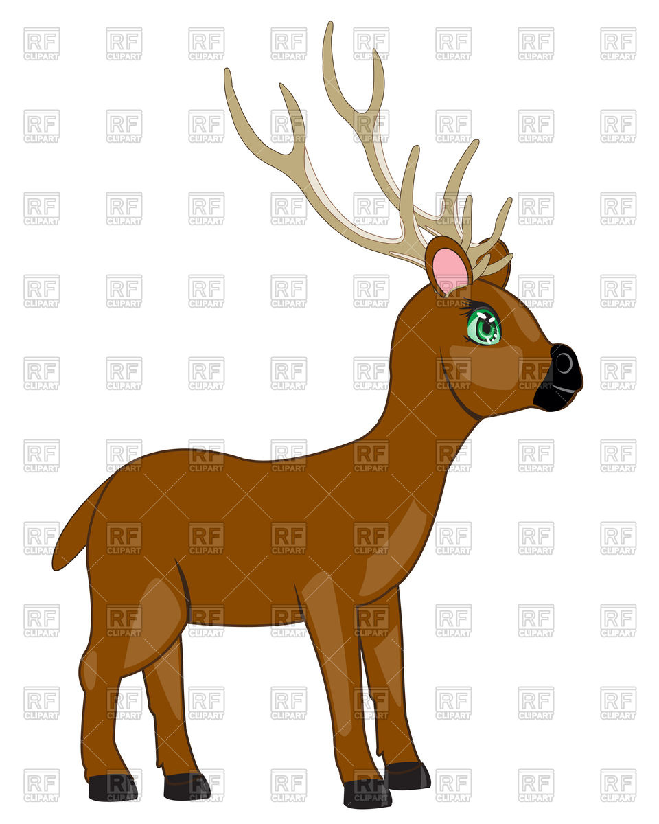 960x1200 Cartoon Wild Deer Royalty Free Vector Clip Art Image