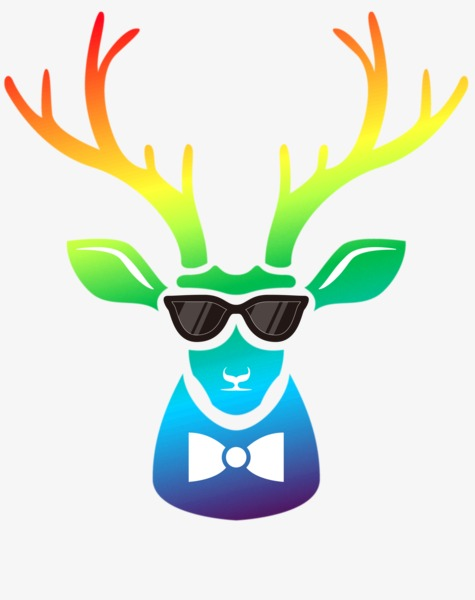 475x600 Color Deer, Antlers, Elk, Sunglasses Png Image And Clipart