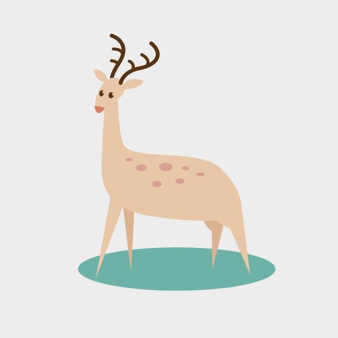 660x660 Deer Vector Clip Art