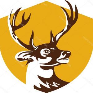 300x300 Antlers Deer Silhouette Vector Clip Art Geekchicpro