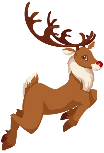 407x600 Christmas Rudolph Png Clip Art Image Christmas Clipart