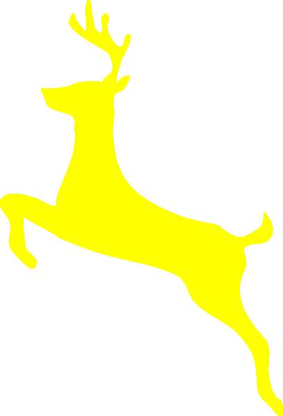 408x599 Yellow Deer Clip Art