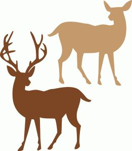 261x300 Best 335 Deer Hunting Silhouettes, Vectors, Clipart, Svg