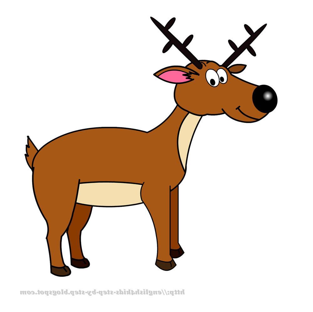 1000x997 Best Free Cartoon Deer Clip Art Images Free Clip Art Designs