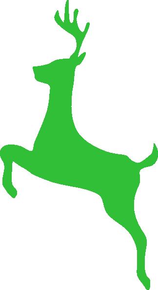 324x594 Bright Green Deer Clip Art