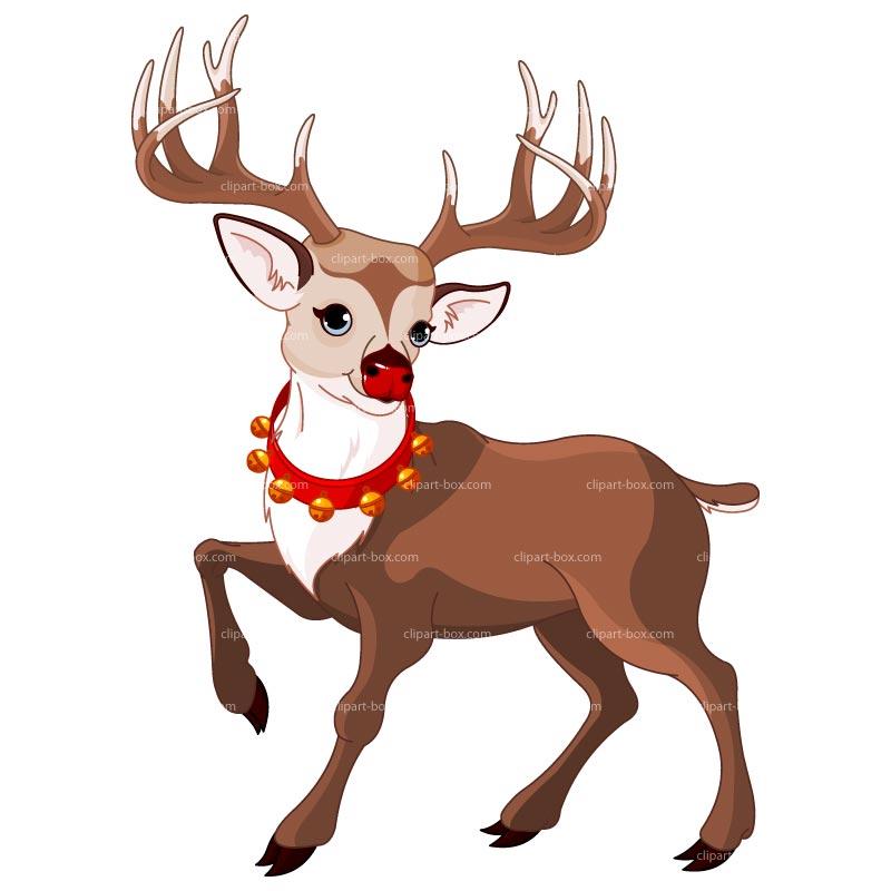 800x800 Xmas Deer Clipart