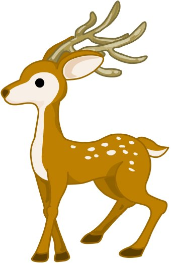 340x523 Collection Of Small Deer Clipart High Quality, Free Cliparts