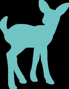 230x297 Teal Fawn Deer Clip Art