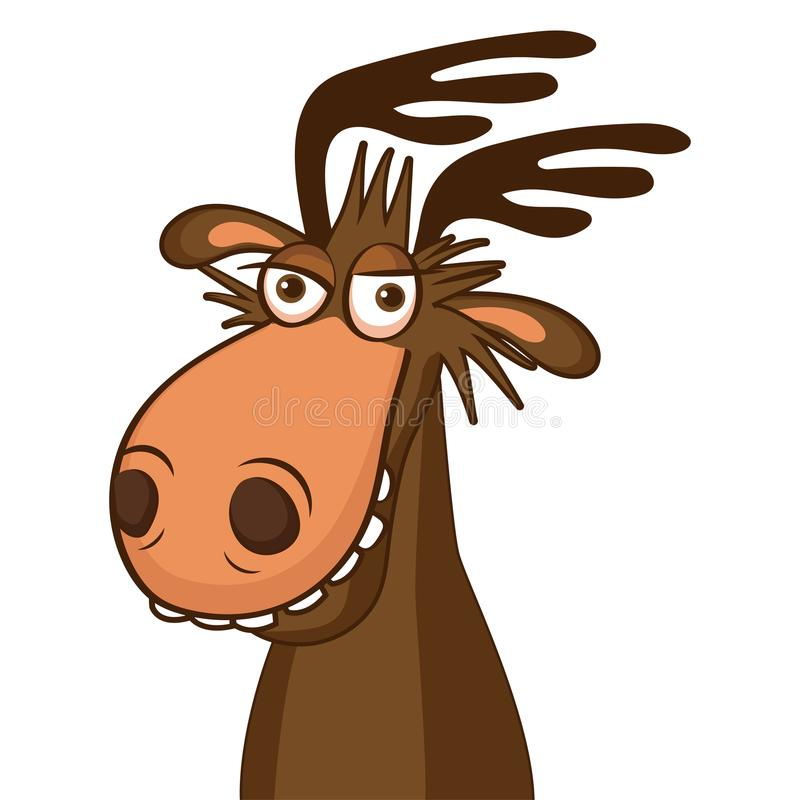 800x800 Cartoon Moose Face Moose Face Picture Cartoon Smile Deer Vector