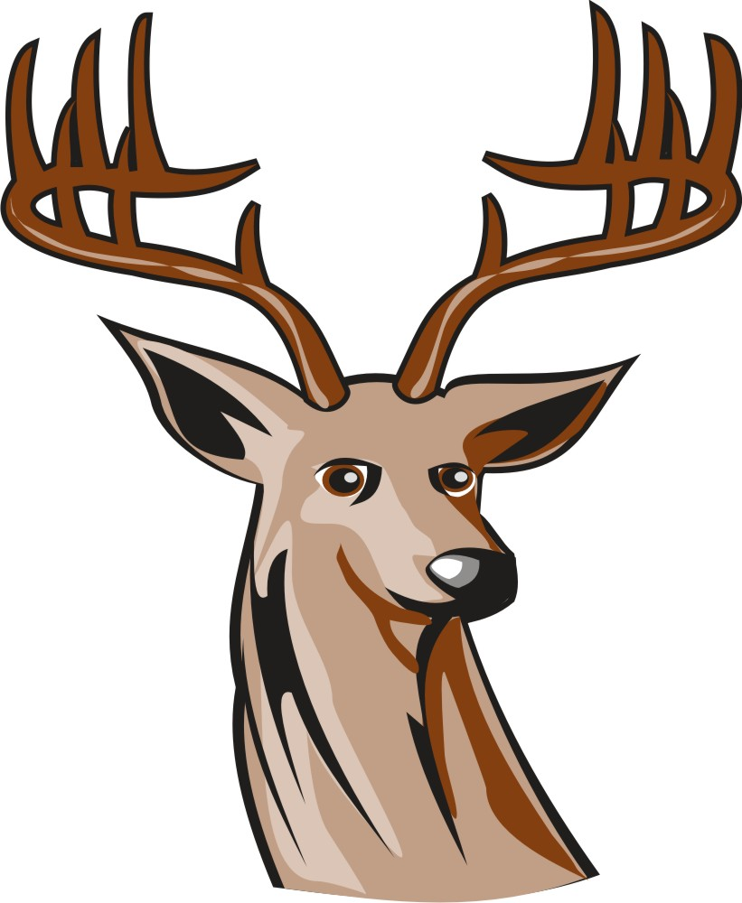 821x1000 Deer Clipart Images Black And White
