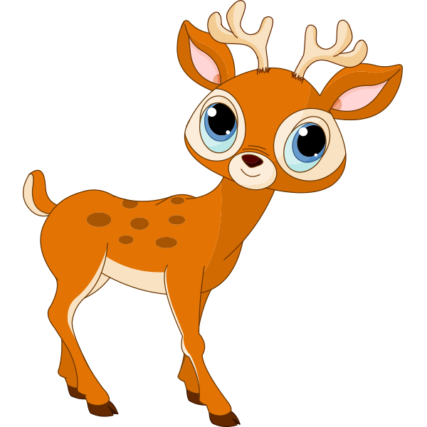 600x600 Blue Eyed Deer Clip Art, Applique Patterns And Scrapbook