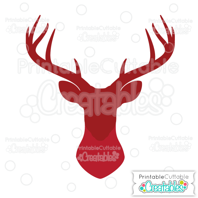 650x650 Deer Head Silhouette Free Svg Cut File For Silhouette, Cricut