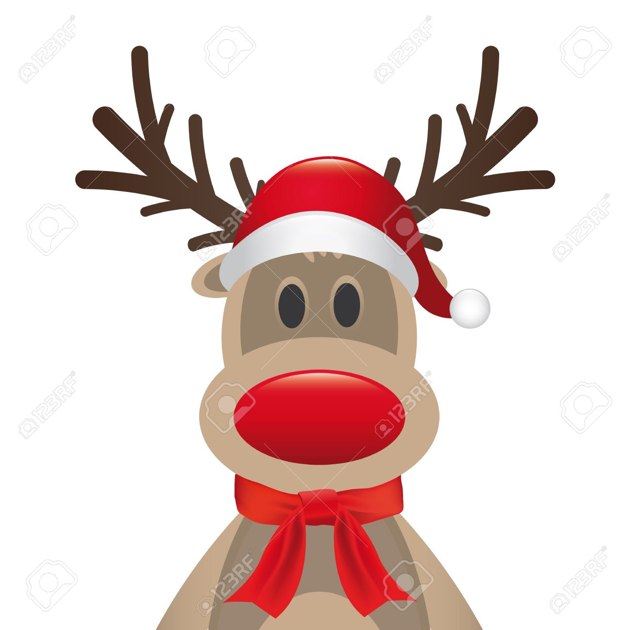 1300x1300 Santa Hat Clipart Reindeer Head